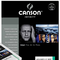 """Canson Infinity Aquarelle Rag 240gsm - 11"""" x 17"""", 25 Sheets"""