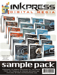 Inkpress Sample Media Pack- Fine Art/Photo