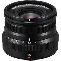 FUJIFILM XF16mmF2.8 R WR Lens (Black)
