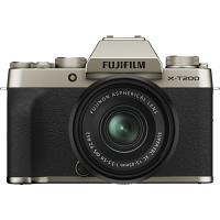 FUJIFILM X-T200 Mirrorless Digital Camera with 15-45mm Lens (Champagne Gold)