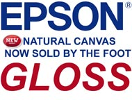 Epson NATURAL GLOSS CANVAS  by the FOOT