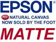 Epson NATURAL MATTE CANVAS  by the FOOT