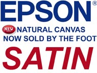 Epson NATURAL SATIN CANVAS  by the FOOT