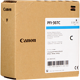 Canon PFI-307C Cyan Ink Cartridge (330 mL)